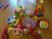 Toys! Various toys listed with individual prices