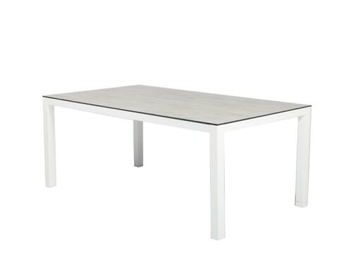 Tierra Outdoor Briga tuintafel wit + forest grey 180 x 100