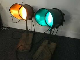 Reclaimed vintage Traffic light lamps / factory industrial