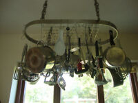 Stainless Steel Hanging Saucepan Rack