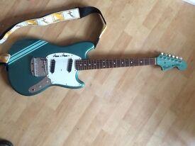 Fender Mustang competition ocean turquoise RARE CIJ short scale jaguar musicmaster bronco