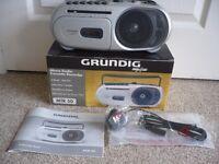 Quality Grundig Radio Cassette. Boxed. Hardly Used.