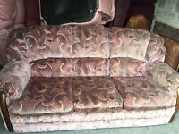 PATTERN FABRIC 3 SEATER SOFA WITH 2 ARM CHAIRS,CAN DELIVER