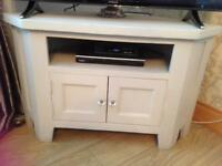 Solid wood grey painted tv stand