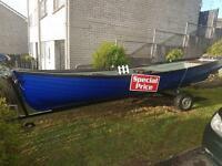 Fishing/shooting boat and trailer with oars and oar locks included