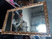 Mirror. Gold bevelled edge