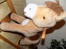 children cute rocking horse unisex ( can rock or walk on wheels)