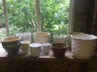 Selection of flower pots