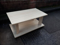 coffee table in light wood