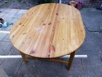 Beautiful Pine Dinning Room Table - Free!!