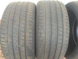 Four Pirelli P Zero 255 35 R19 AO rated tyres