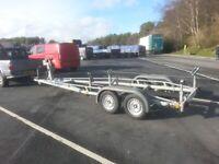 Yacht galvanized braked twin wheel trailer Beneteau 22 for sale  Maryport, Cumbria