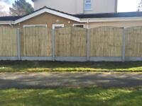 🌤 HEAVY DUTY PRESSURE TREATED WOODEN GARDEN FENCE PANELS ~ VARIOUS STYLES & SIZES