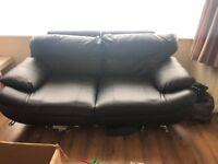 X2 3 Seater Leather Sofas