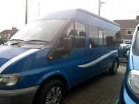 Transit self-built campervan