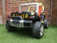 used Peg perego 12V electric jeep