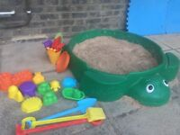 Sand pit and play House