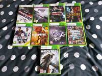 Xbox 360, 9 games, 2 wireless pads
