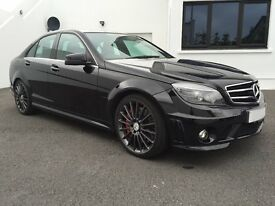Black 2010 Mercedes C63 AMG With Performance Pack & Lots of Extras