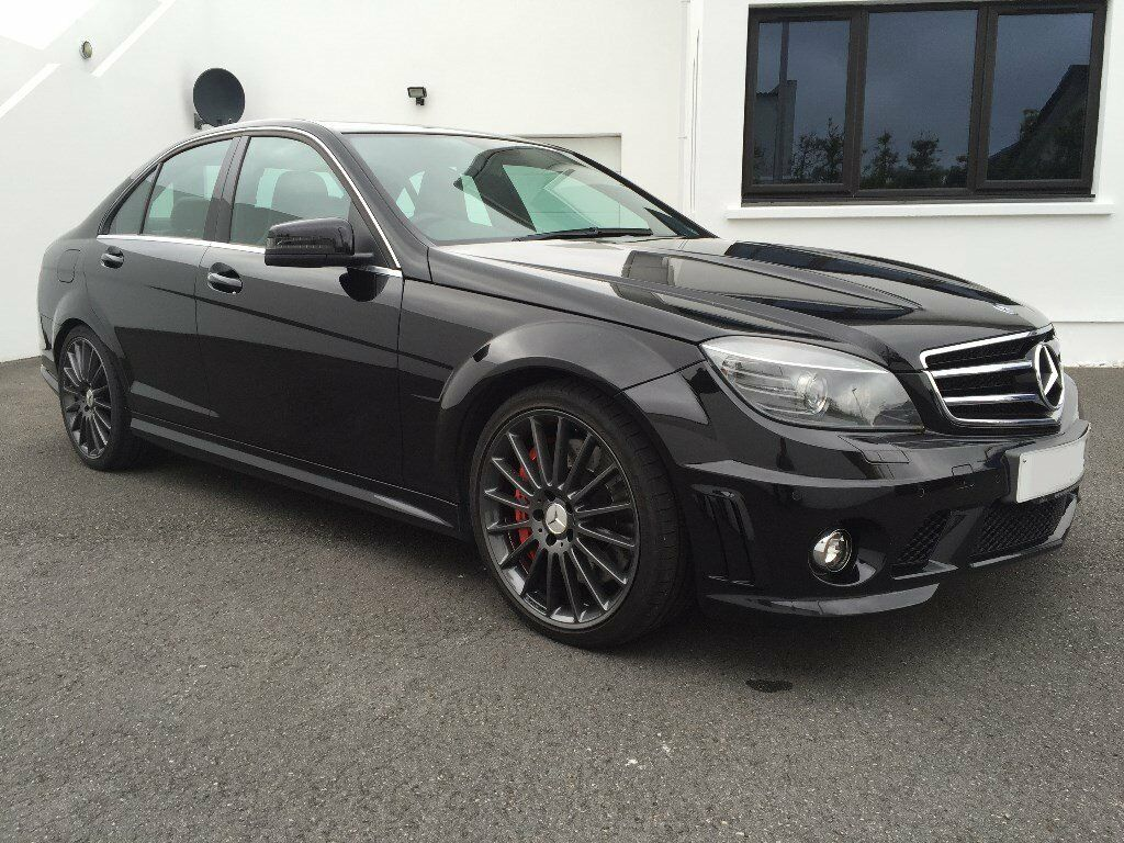 Black 2010 mercedes c63 amg with performance pack lots for Mercedes benz c63 amg 2010