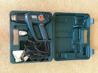 Black and Decker KX2000K hot air gun with case and attachments