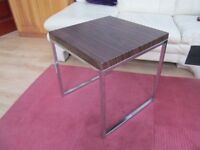 SIDE TABLE WITH HARDWOOD EFFECT TOP
