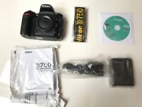Nikon D750 Body - SHUTTER COUNT ONLY 69!! with original packaging.