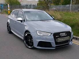 2015 AUDI RS3 QUATTRO S TRONIC NARDO GREY BLACK OPTIC PACK FULLY LOADED DYNAMIC PACK S/S BUCKETS