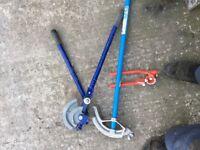 Pipe holder & ladder