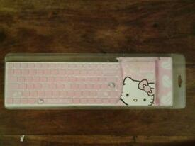 Hello Kitty Computer Keyboard in Pink - Unopened in original packaging