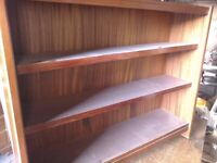 Mohogany bookcase made in England badge