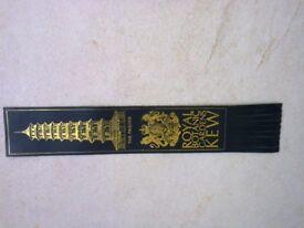 Leather book mark............ Kew gardens...(great stocking filler !)