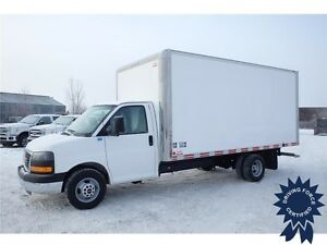2014 GMC Savana 16 ft Cube Van, 31,691 KMs, 6.0L V8 Gasoline