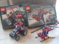 Lego Technic 8068 (Helicopter) and 8048 (Buggy)