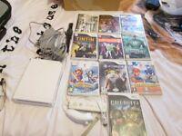 Nintendo Wii White Console bundle,10 games,wii remote,nunchuck