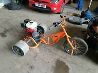Drift cart professionlly made with 6.5hp 4 stoke engine