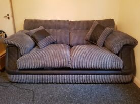 3 + 2 seater grey sofa for sale