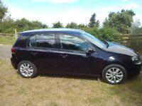 vw black golf car for sale