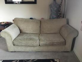 Gorgeous coffee/latte 2-3 seater sofa settee