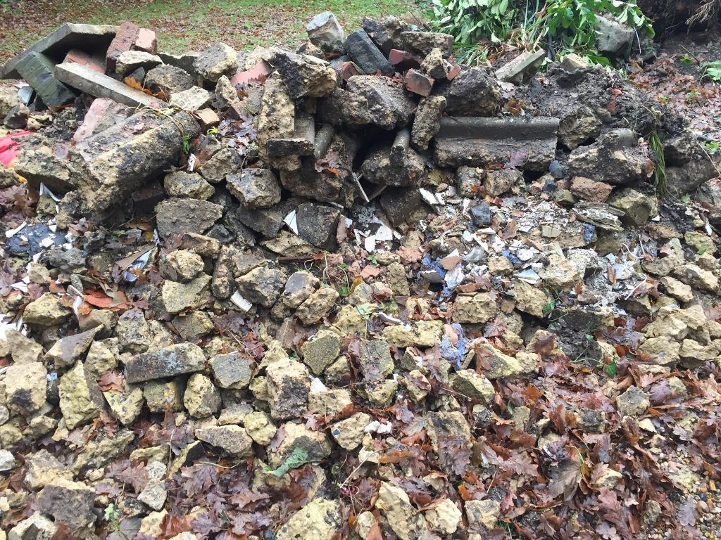 Brick rubble for free