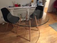 Eames inspired dining table + 2 chairs