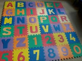Soft foam alphabet and number mat