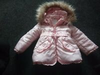 Mayoral Pale Pink Winter Jacket, size 18months, excellent condition