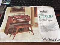 Baldwin CT-100 Compact Theatre Organ
