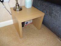 2 x NEXT oak effect Side Tables