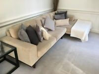 BEAUTIFUL FAWN FOUR-SEATER SOFA - GREAT CONDITION *price negotiable