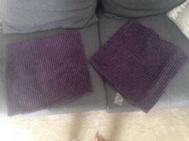 2 Decorative Purple pillow cases 40 x 40cm