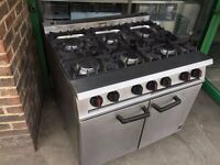 CATERING COMMERCIAL 6 BURNER COOKER OVEN FAST FOOD RESTAURANT KITCHEN CHICKEN CAFE BAR SHOP