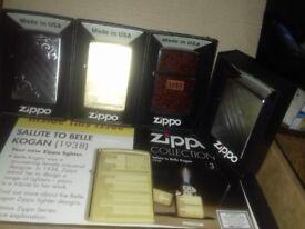 4 ZIPPO LIGHTERS