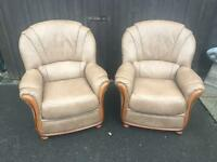 Leather Armchairs ( Can Deliver )
